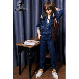 LD000822 Denim Jumpsuit