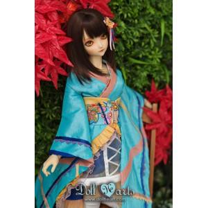 LD000785  Turquoise Kimono