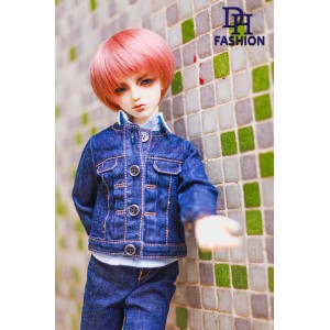 MD000332B  Denim Jacket & Bag