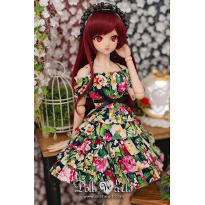 DM000056  Black Floral Dress