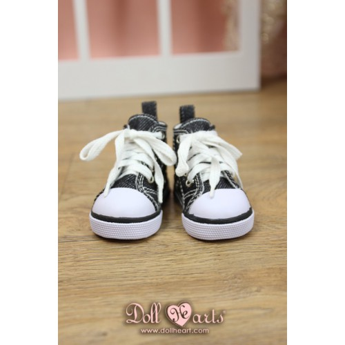 MS000644  Black Canvas Shoes