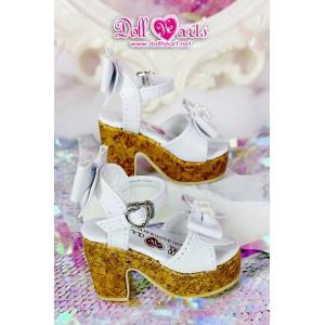 LS001451 White Platform Sandals