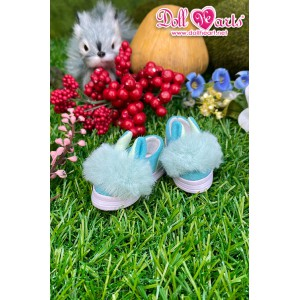 YS000336 Green Fur Shoes [YOSD]