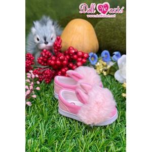 MS000649 粉紅色毛毛鞋 [MSD]