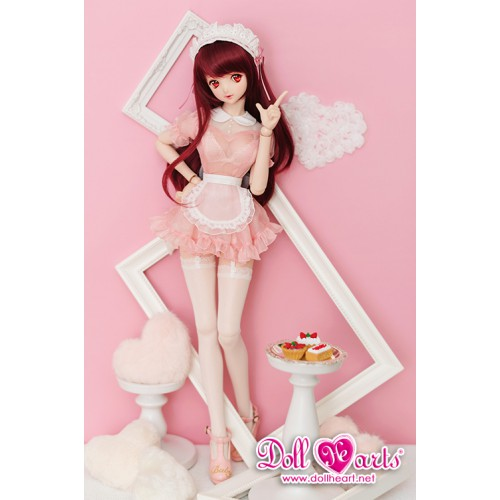 DL000047 Pink See Through Maid...