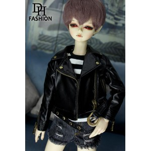 MD000414A Black Biker Jacket [MSD]