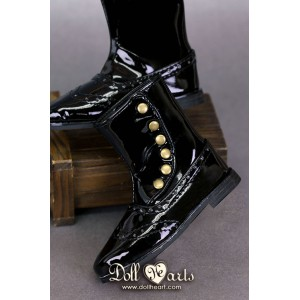 LS001434 Black patent leather boots [SD13]