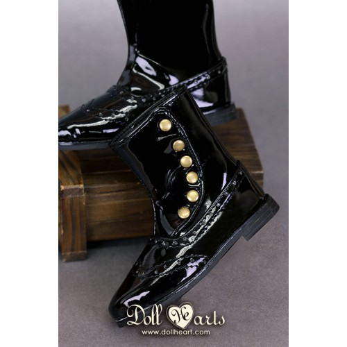 LS001434 Black patent leather boots...