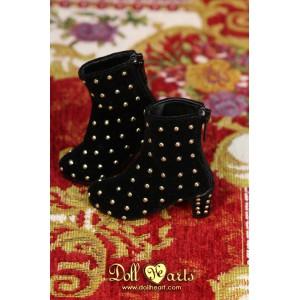 MS000650 Black Velvet Stud Boots [MSD]