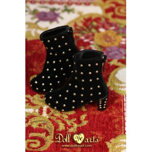 MS000650 黑色絲絨窩釘短靴 [MSD]