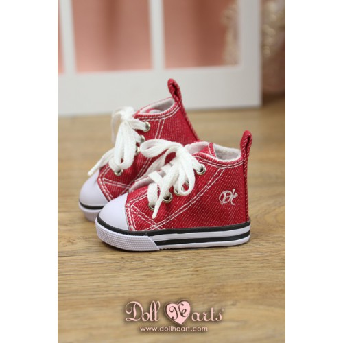 MS000639  Red Canvas Shoes