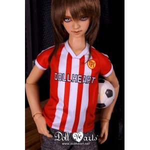 LD000843 Red & White Soccer Jersey  [SD13]