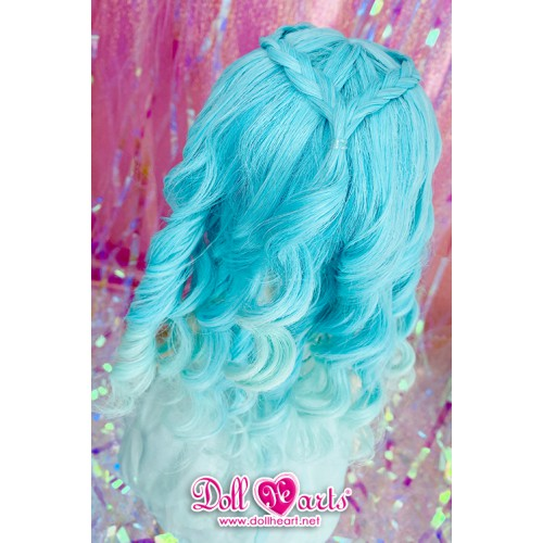 DW000018 Blue Gradient Curly Wig