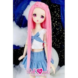 DW000019 Pink Gradient Straight Wig