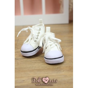 MS000637  White Canvas Shoes