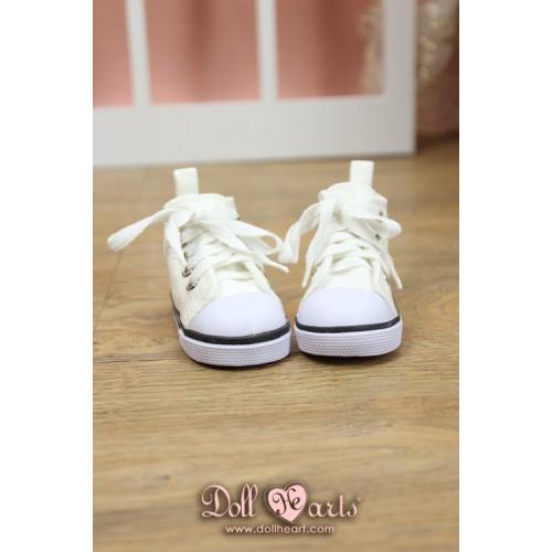 LS001443  White Canvas Shoes