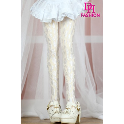 MD000355B  White Leopard Stocking